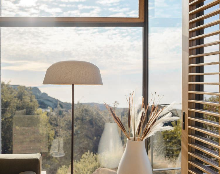 The Maria lamp's shade allows light to filter through PHOTO COURTESY OF ROVE CONCEPTS