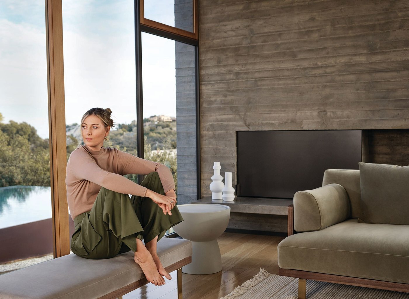 Maria Sharapova collaborated with Rove Concepts on her first-ever furniture and decor collection; the Maria side table doubles as a functional art piece. PHOTO COURTESY OF ROVE CONCEPTS
