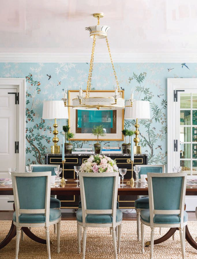 A dining room designed by The Expert-enlisted designer Paloma Contreras PHOTO COURTESY OF: AIMEE MAZZENGA