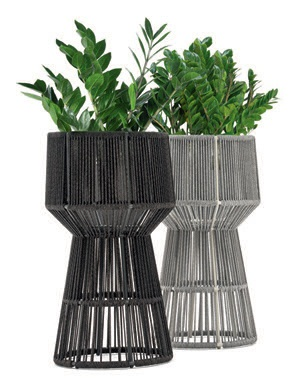 """""""What makes these planters so unique is their large scale, and their texture allows them to be a focal point. Plants are becoming an even more important aspect of design, and we're always on the lookout for ways to incorporate them."""" Nigel Coates loop planter, mondocollection.com PHOTO COURTESY OF BRANDS"""
