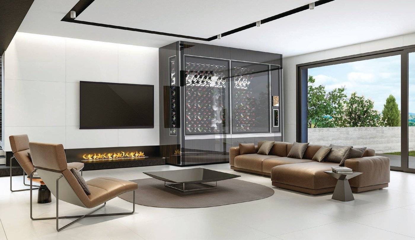 WineCab's ultrasleek aesthetic means that your prized vino collection no longer needs to be hidden away PHOTO COURTESY OF BRAND