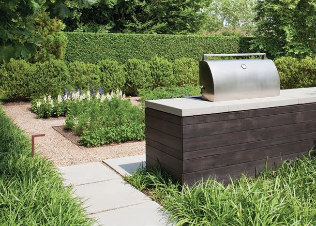 A grill area enhances the garden-to-table experience and culinary adventures PHOTO COURTESY OF LAGUARDIA DESIGN GROUP
